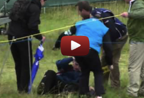 Man Down! McIlroy Drives It Off Spectators Head