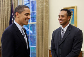Obama plays golf with Tiger Woods at The Floridian