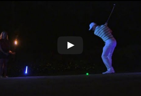 Glow in the Dark Golfing with Ben Crane and Bud Cauley